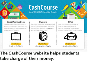 Cash Course logo and link to Cash Course website
