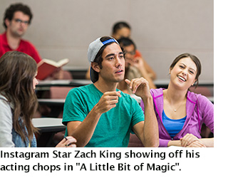 Zach King in the classroom